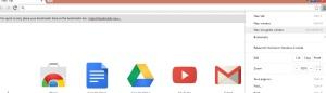 Google chrome home page new incognito window